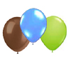 LT. BLUE BROWN & LT GREEN BALLOON COMB0 PARTY SUPPLIES