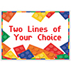 BLOCK PARTY CUSTOMIZED PLACEMAT PARTY SUPPLIES