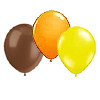 ORANGE BROWN & YELLOW BALLOON COMBO PARTY SUPPLIES