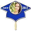 BLUE GRAD CAP PHOTO PADDLE PARTY SUPPLIES
