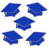 BLUE MORTARBOARD GRAD DECO FETTI PARTY SUPPLIES