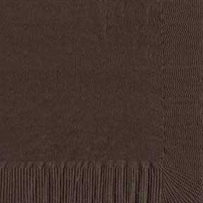 Click for larger picture of CHOCOLATE BROWN 2 PLY BVRG NAP (600/CS) PARTY SUPPLIES