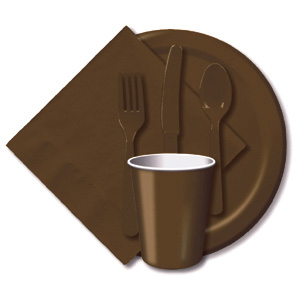 BULK CHOCOLATE BROWN TABLEWARE