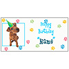 PERSONALIZED BROWN PUPPY BANNER PARTY SUPPLIES