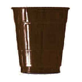 Click for larger picture of CHOCOLATE BROWN 12OZ PLSTIC CUP (240/CS) PARTY SUPPLIES