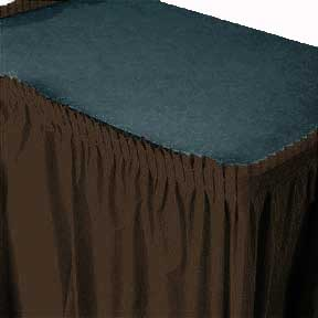 Click for larger picture of CHOCOLATE BROWN SKIRT ADHESIVE BACK PARTY SUPPLIES
