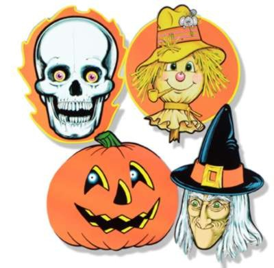 Click for larger picture of HALLOWEEN CUTOUTS PRTD 2 SIDES 16IN. PARTY SUPPLIES