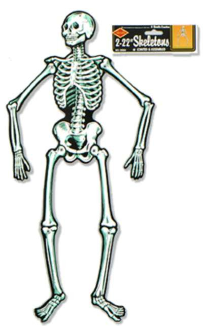 JOINTED SKELETON PRTD 2 SIDES 55IN. (1/P PARTY SUPPLIES