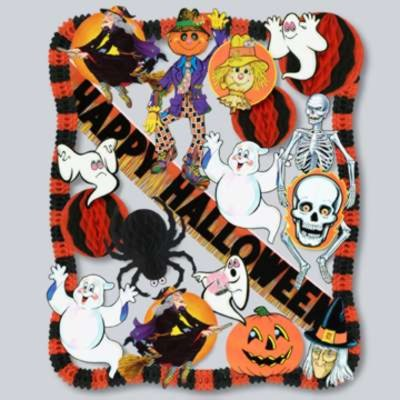 halloween decorating kit 24 pcs party supplies - Halloween Party Supplies