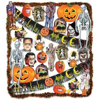BULK HALLOWEEN DECORATING KITS