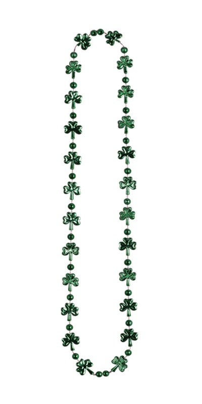 SHAMROCK BEADS 33IN. (1/CARD) PARTY SUPPLIES
