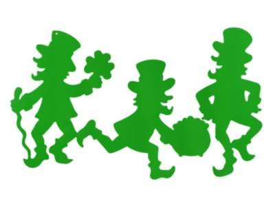 Click for larger picture of LEPRECHAUN SILHOUETTES 17IN. (24/CASE) PARTY SUPPLIES