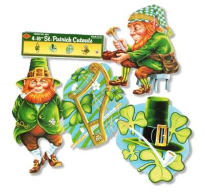 ST. PATRICK'S CUTOUT DECORATIONS