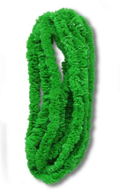GREEN SOFT-TWIST POLY LEIS 1IN.X36IN. PARTY SUPPLIES