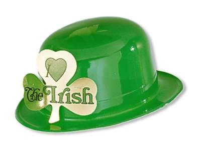 GREEN PLASTIC IRISH DERBY FULL HEAD SIZ PARTY SUPPLIES