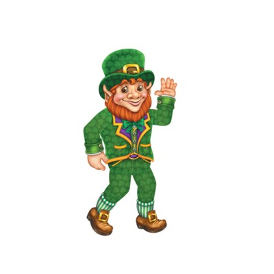 Click for larger picture of JOINTED LEPRECHAUN 33IN. (12/CASE) PARTY SUPPLIES