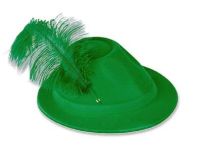 GREEN VELOUR ALPINE FULL HEAD SIZE PARTY SUPPLIES