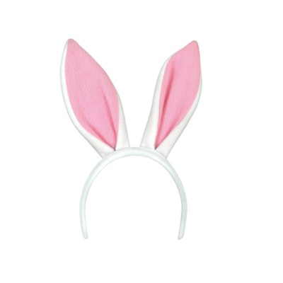 SOFT-TOUCH BUNNY EARS W/SNAP-ON HEADBAN PARTY SUPPLIES