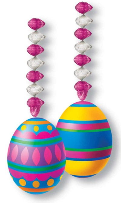 EASTER EGG DANGLERS 30IN. 6/CS PARTY SUPPLIES