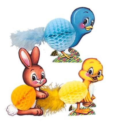 EASTER PLAYMATES 4IN. (3/PKG) PARTY SUPPLIES