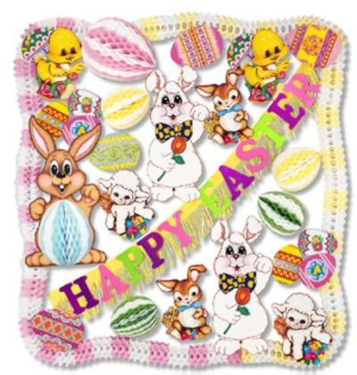 EASTER DECORATING KIT - 25 PCS PARTY SUPPLIES