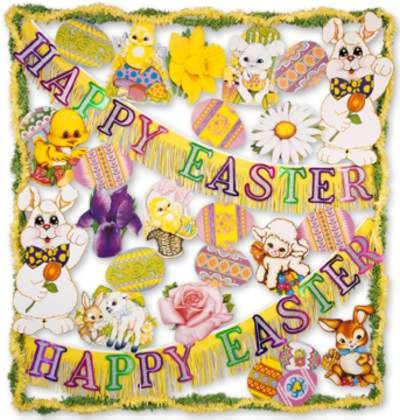 FP EASTER TRIMORAMA - 26 PCS PARTY SUPPLIES