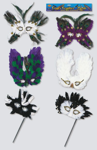 Click for larger picture of ULTIMA FANCI-FEATHER MASK ASSORTMENT PARTY SUPPLIES