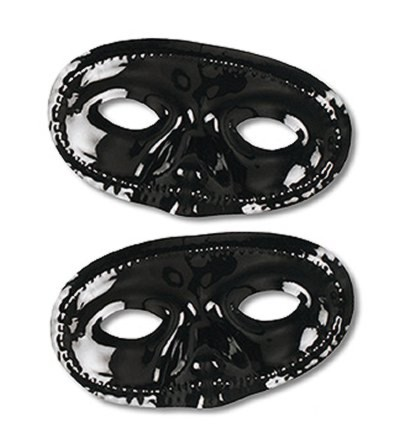 Click for larger picture of METALLIC HALF MASKS BLACK (24/PKG) PARTY SUPPLIES