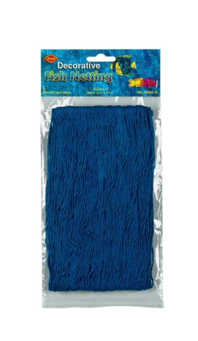 FISH NETTING BLUE 4'X12' (12/CASE) PARTY SUPPLIES