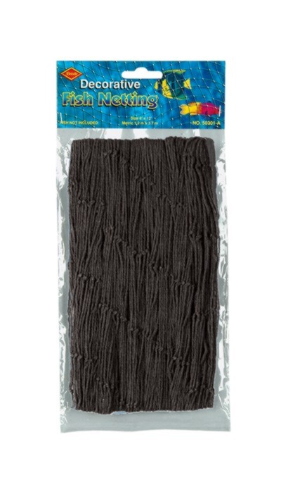 FISH NETTING BLACK 4'X12' (12/CASE) PARTY SUPPLIES