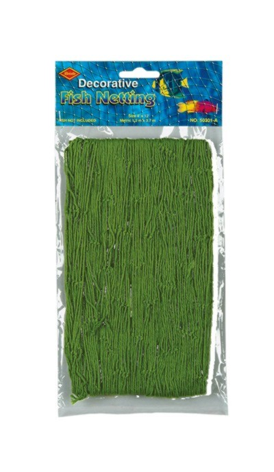 FISH NETTING GREEN 4'X12' (12/CASE) PARTY SUPPLIES
