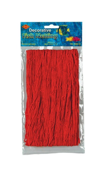 FISH NETTING RED 4'X12' (12/CASE) PARTY SUPPLIES