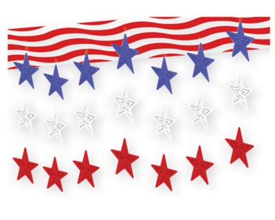 STARS AND STRIPES 3-D SKY-SCAPE 12IN.X12 PARTY SUPPLIES