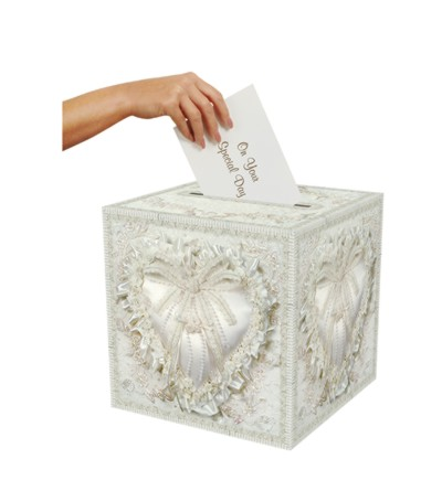 CARD BOX FOLDABLE PRTD CARD BOX 12IN.X12 PARTY SUPPLIES