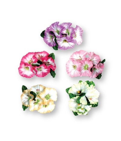 MORNING GLORY FLOWER CLIP (12/CASE) PARTY SUPPLIES