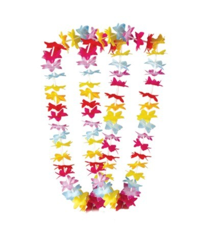 FLORAL LEIS MULTI-COLOR 40IN. (50/CASE) PARTY SUPPLIES