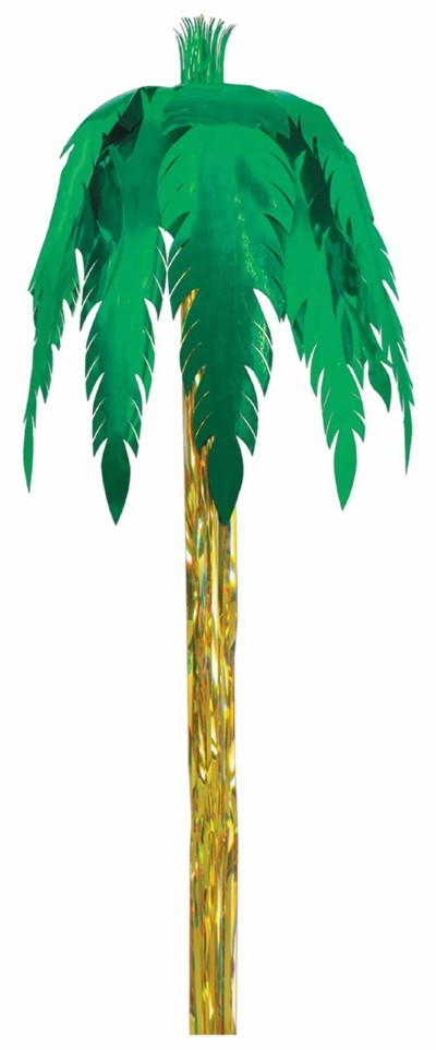 METALLIC GIANT ROYAL PALM 9' (6/CASE) PARTY SUPPLIES