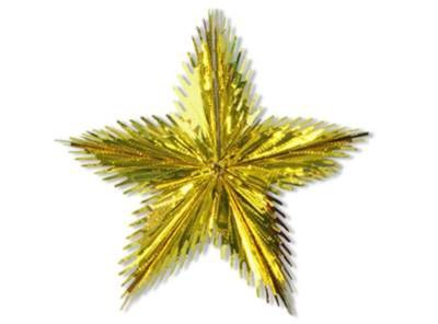 GOLD LEAF STARBURST (16IN.) PARTY SUPPLIES