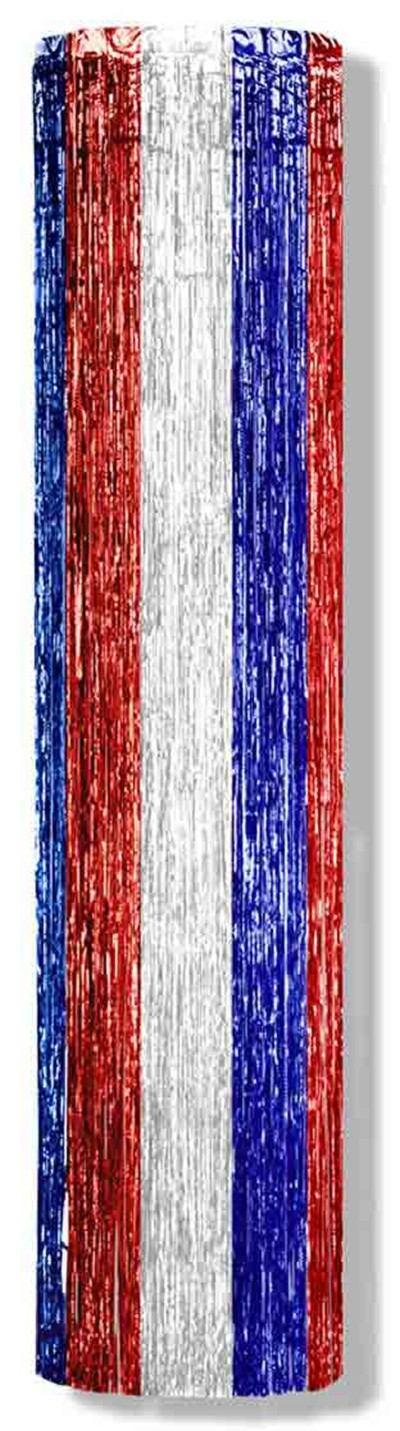1-PLY FP GLEAM 'N COLUMN RED/ WHITE/ BLU PARTY SUPPLIES