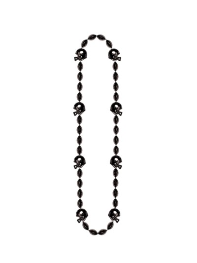 Click for larger picture of FOOTBALL BEADS BLACK 36IN. PARTY SUPPLIES