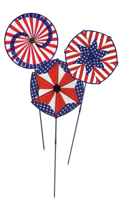 PATRIOTIC WIND-WHEELS (6/CASE) PARTY SUPPLIES