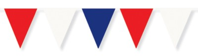 OUTDOOR PENNANT BANNER RED/ WHITE/ BLUE PARTY SUPPLIES