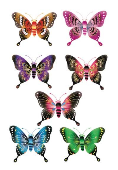 MAJESTIC BUTTERFLIES NYLON BUTTERFLIES/ PARTY SUPPLIES