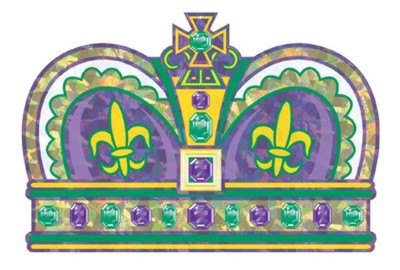 Click for larger picture of PRISMATIC MARDI GRAS CROWN (12/CASE) PARTY SUPPLIES