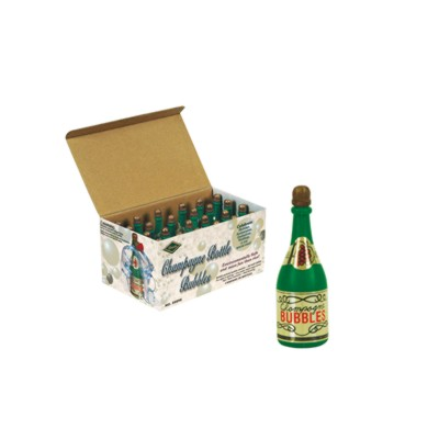 Click for larger picture of CHAMPAGNE BOTTLE BUBBLES 3IN. (24/BOX) PARTY SUPPLIES