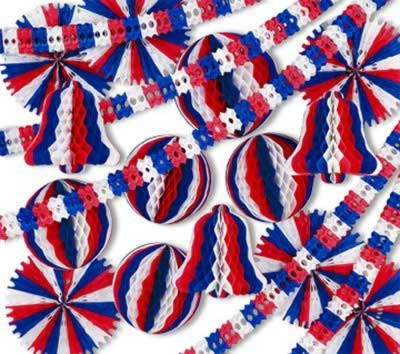 PATRIOTIC DISPLAY DECORATOR - 26 PCS PARTY SUPPLIES