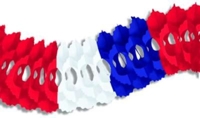 ARCADE GARLAND RED/ WHITE/ BLUE 5IN.X12' PARTY SUPPLIES