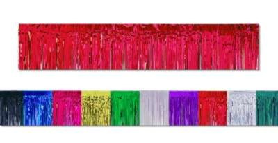 Click for larger picture of 1-PLY METLLC FRINGE DRAPE CERISE 15IN.X1 PARTY SUPPLIES
