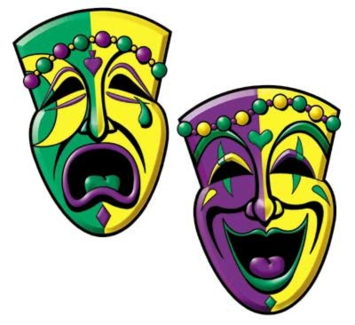 COMEDY AND TRAGEDY FACE DECOR(2/PKG-12/C PARTY SUPPLIES