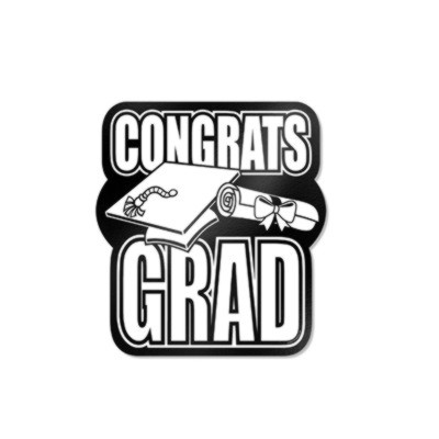 DISCONTINUED CONGRATS GRAD CUTOUT BLACK PARTY SUPPLIES